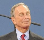 Bloomberg looking insufferably smug