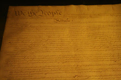 photo of one of the original copies of the US Constitution
