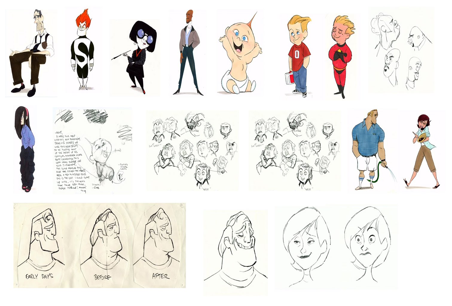 Character Design Sheet Pixar : M kwissm concept art insperation the incredibles