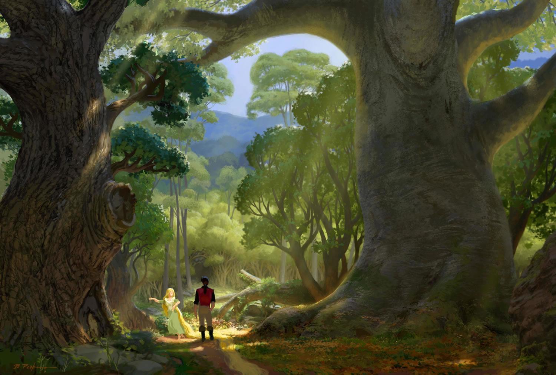 The Wanderings Of A Dreamer Rapunzel Concept Art