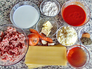 Lasagna cu sos Bolognese si sos Bechamel Ingrediente reteta