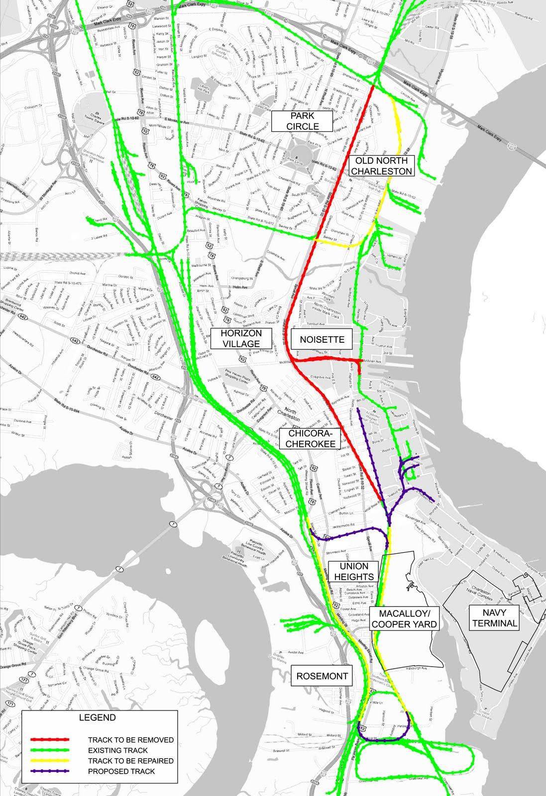 Weve MOVED North Charleston Rail Plan Maps