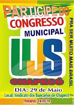 Congresso da UJS Chapecó dia 29 de Maio.