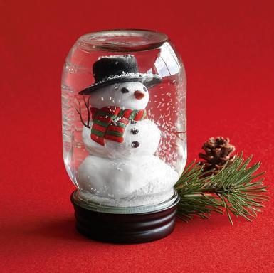 Chicks and gluesticks cute snow globes for Easy homemade christmas snow globes