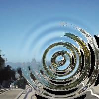 groovyで水面の波紋のような効果をかけた画像