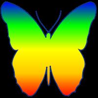 groovyで描画した蝶