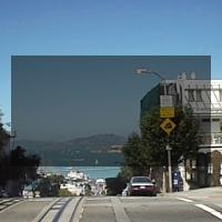 pycairoで描画した半透明の四角