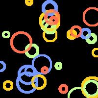 Imagickで描画したランダムな円