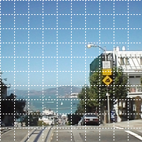 Imagickで画像の上に点線を描画した画像