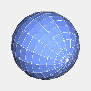 JOGLで描画したワイヤーフレームとポリゴンの球