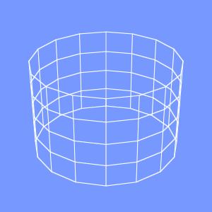 JOGLでアンチエイリアスをかけたワイヤフレームの画像