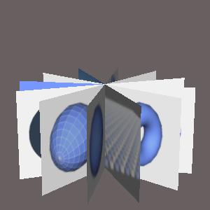 JOGLで放射状に画像を配置した画像