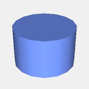 groovyとJOGLで描画した円柱
