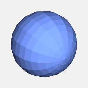 groovyとJOGLで描画したフラットシェーディングの球