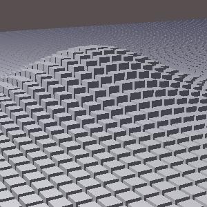 groovyとJOGLで描画した直方体の山