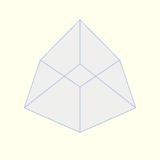 Processingで描画した立方体