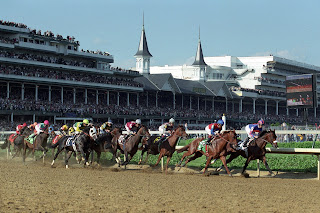 First Turn at Churchill Downs