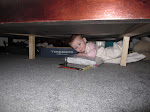 Chloe under the bed