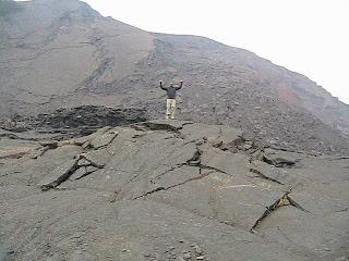 Walking Across a Volcano