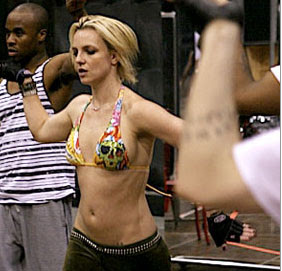 britney spears ab workout