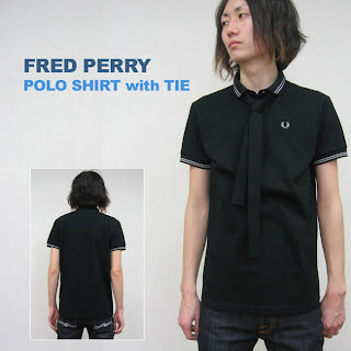 Labels 2008 Japan Fred Perry Polo Shirt With Tie Size M