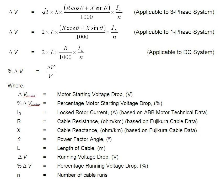 Cable sizing calculation cable sizing design power oil and gas therefore the motor starting voltage drop and running voltage drop must be lower than the respective allowable running and starting voltage drop greentooth
