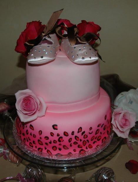animal print cakes. The Leopard Print Cake: