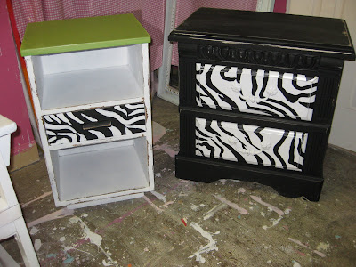 Antique Bedside Tables on Uptown Country  Frantique Of The Week  Custom Zebra Bedside Tables