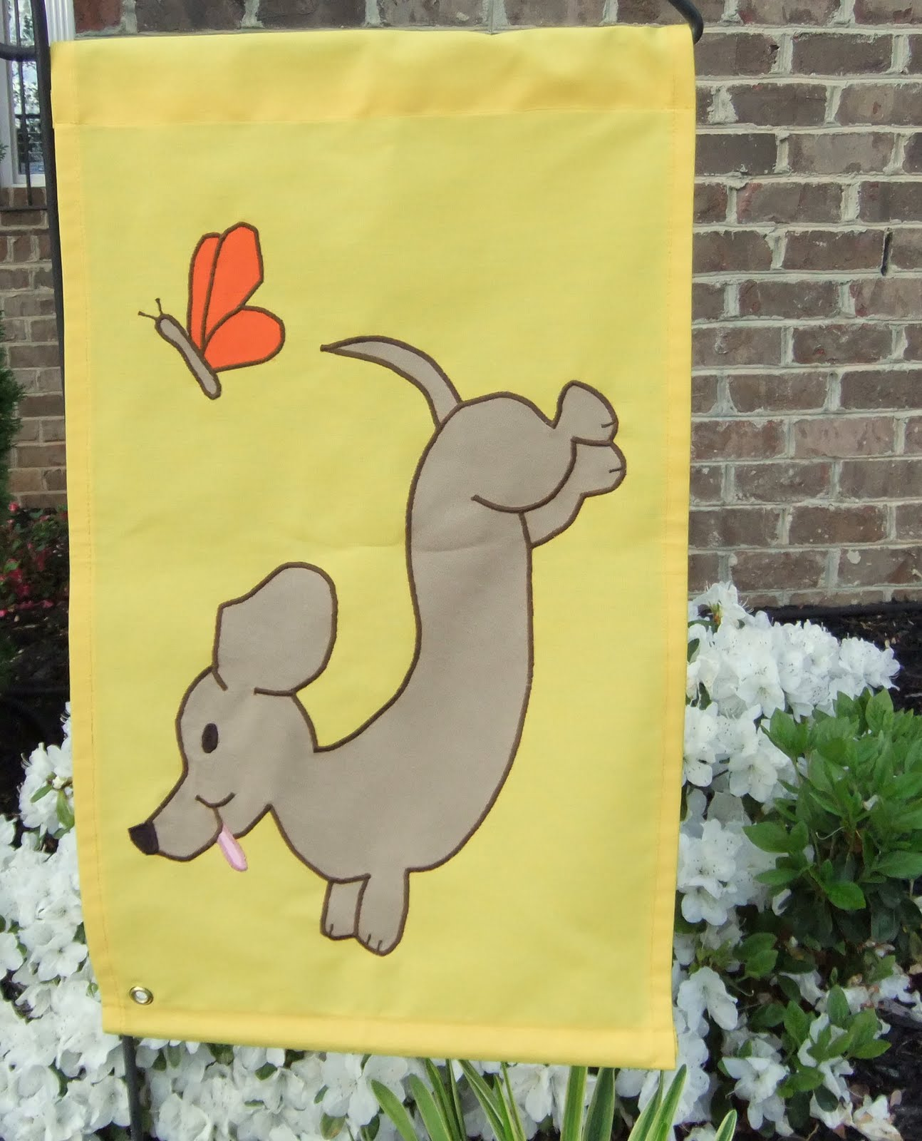 Dachshund Garden Flags But Bigger!!
