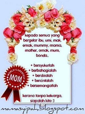 Sinar Kehidupanku Kad Ucapan Selamat Hari Ibu