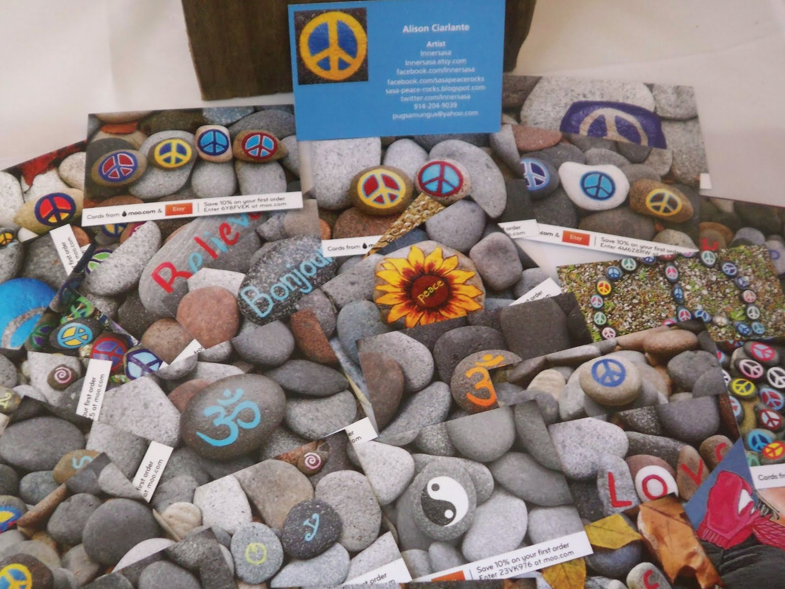 Peace Rocks FREE Moo Business Cards