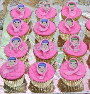 MechaniCake: Pink jilbab cupcake and cupcake set-2 for ...