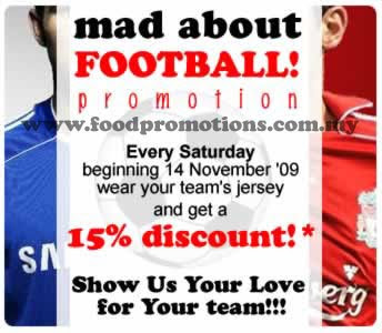 Mad About Pizza FOOTBALL! promotion 15% discount