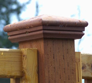 capped fencepost