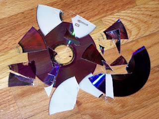 DVD disk pieces