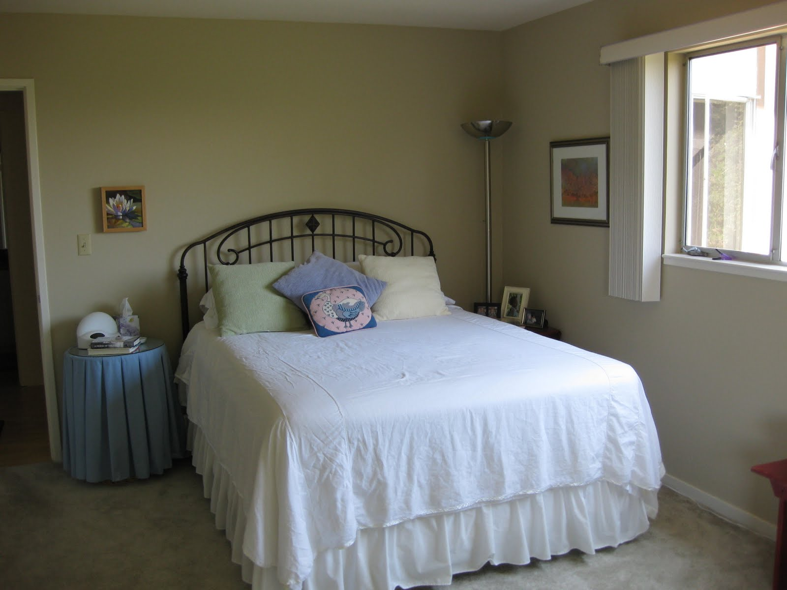 my bedroom is painted hush a pottery barn color from benjamin mo