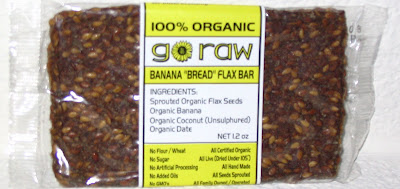 go raw low calorie banana breaad bar