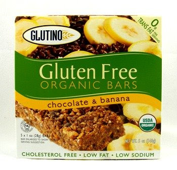 glutino gluten free chocolate and banana bars