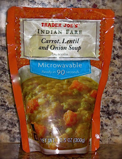 trader joe's indian fare carrot, lentil, onion soup