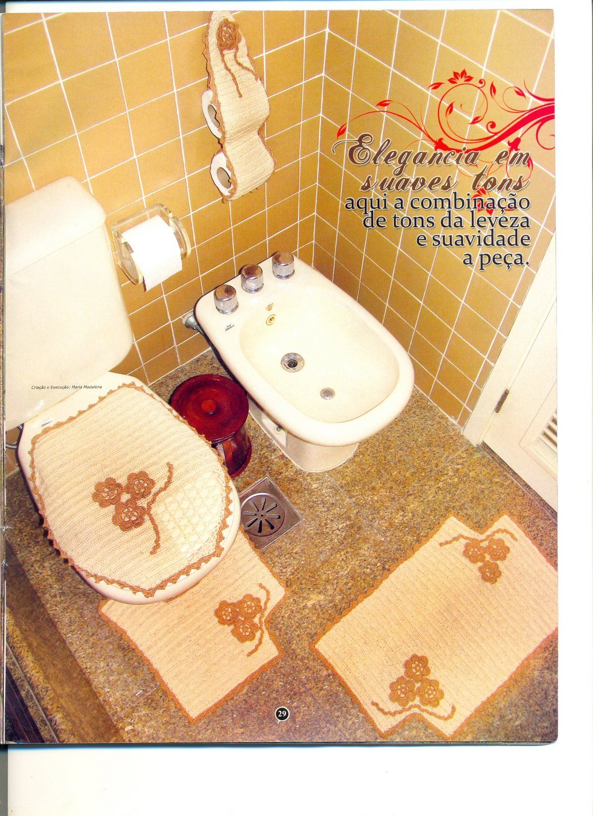 #B5161A Wanda Arte em Crochê: Jogos de Banheiro 1163x1600 px tapete de banheiro em frances