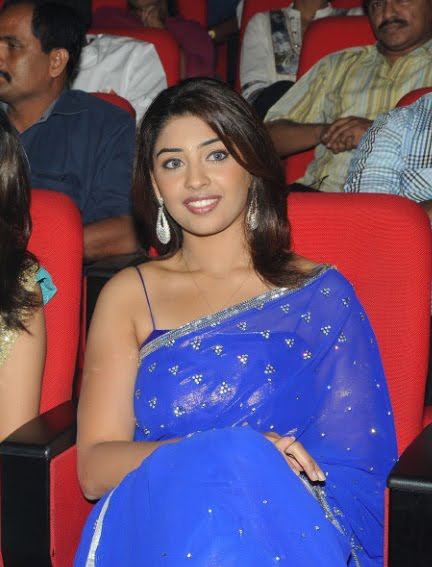 richa gangopadhyay new n spicy in blue saree hot images