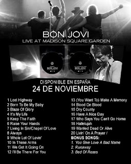 The screen door bon jovi unveils dvd cover tracklist for 39 live at madison square garden 39 dvd for Bon jovi madison square garden