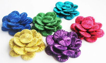 sparckles flower brooche ch