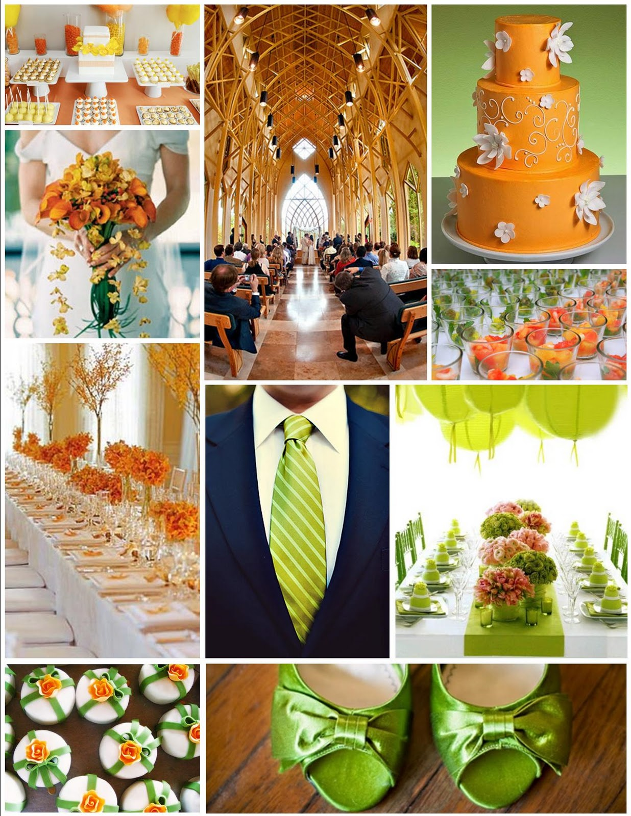 The Awesometastic Bridal Blog Green Orange And Pink Inspiration