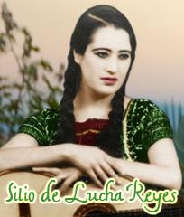 La página de la cantante mexicana Lucha Reyes