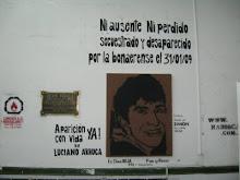 Mural en Sociales por la Aparición con vida YA de Luciano Arruga!