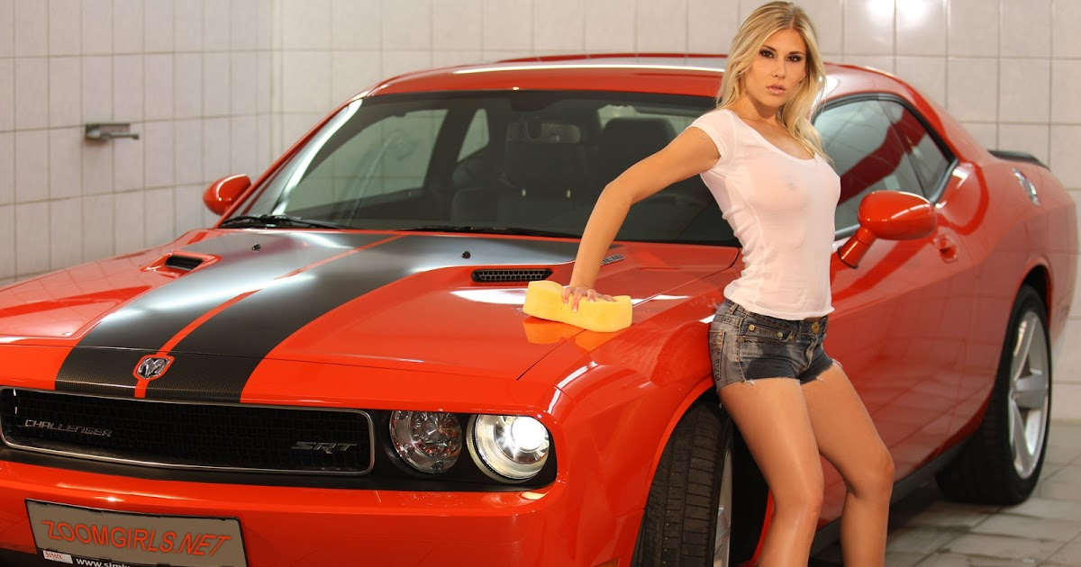 Dodge Challenger And Hot Girl Wallpapers