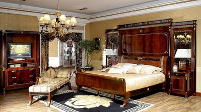 Antique Style Bedroom Furniture on Antique Empire Style Bedroom Furniture Set