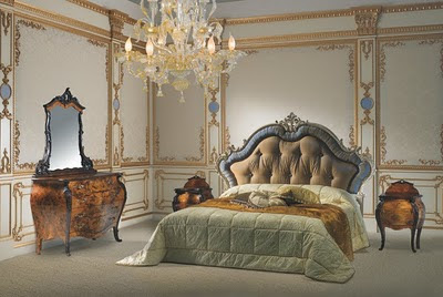 Ultra-luxury-elegant-Rococo-style-bedroom-with-amazing-platform-bed-set-with-marvelous-dresser-with-mirror-and-cool-decor