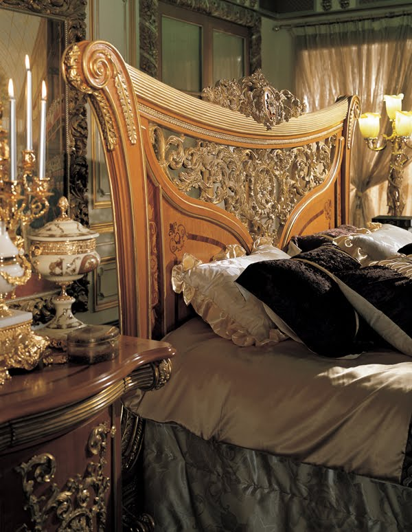 Antique Italian Classic Furniture Handmade Bedroom Furniture